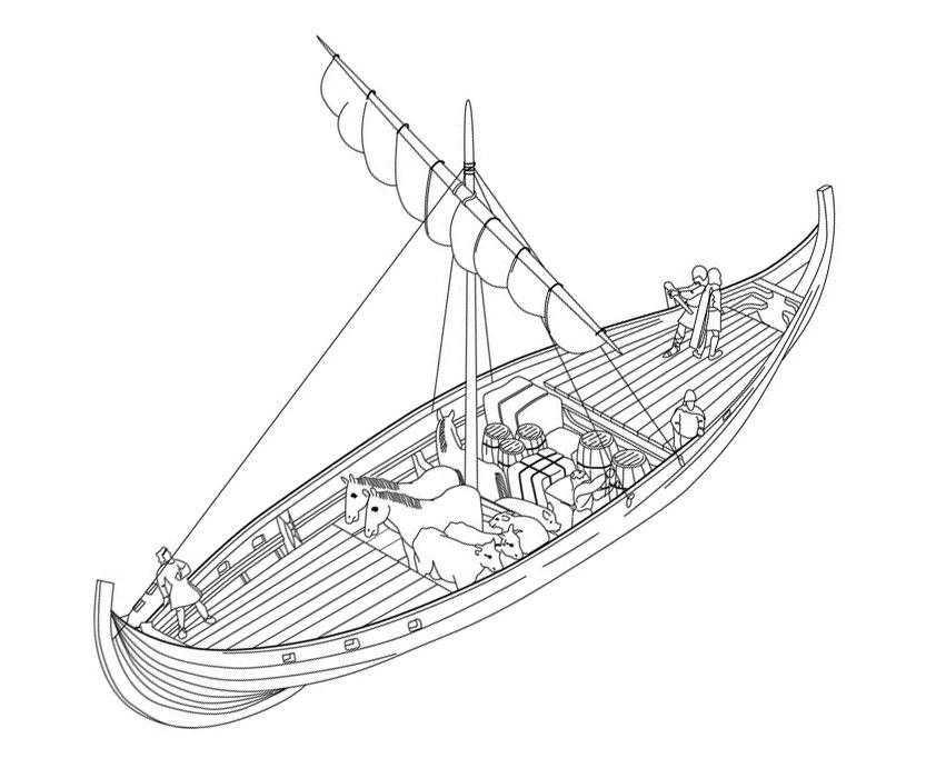 Кнорр - корабль викингов