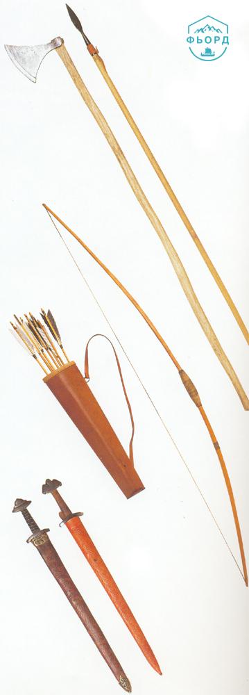 Типичный набор оружия викингов
