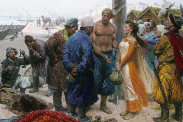 Продажа рабов на скандинавском рынке