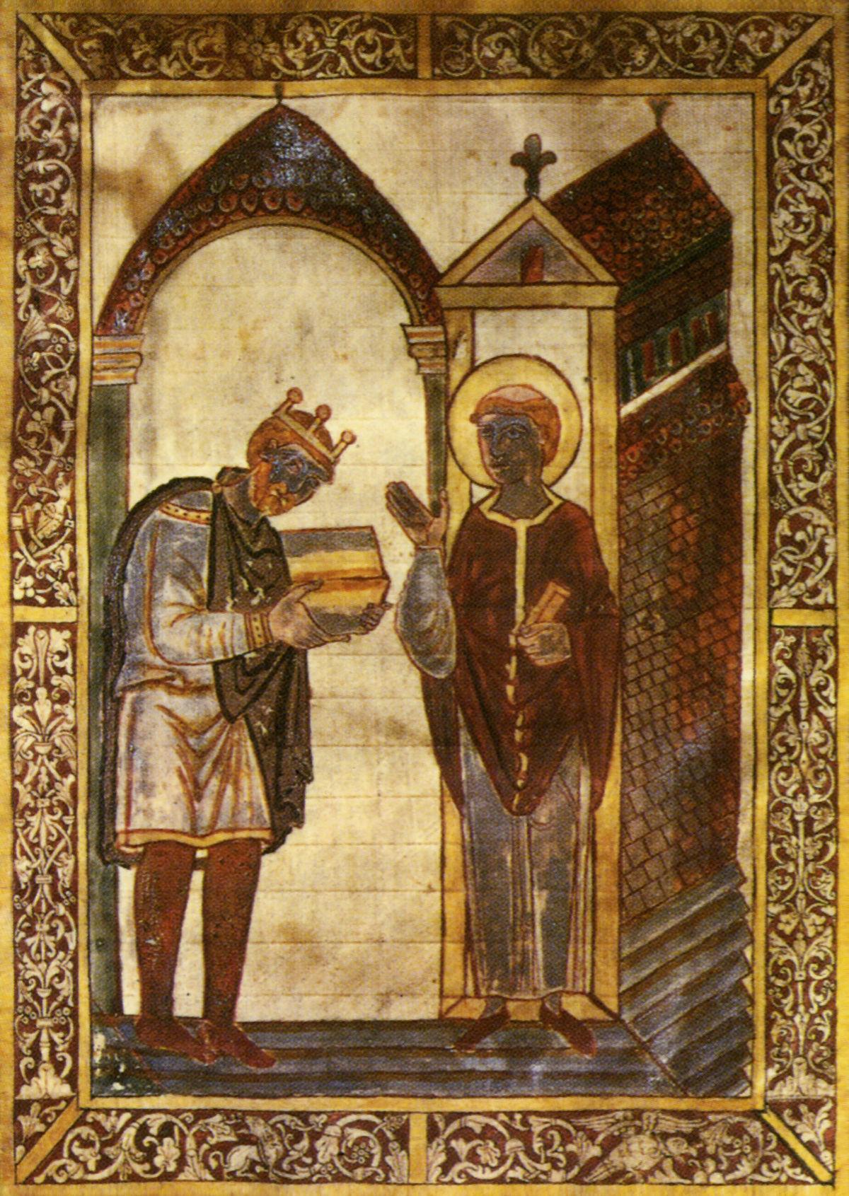 Король Ательстан слева