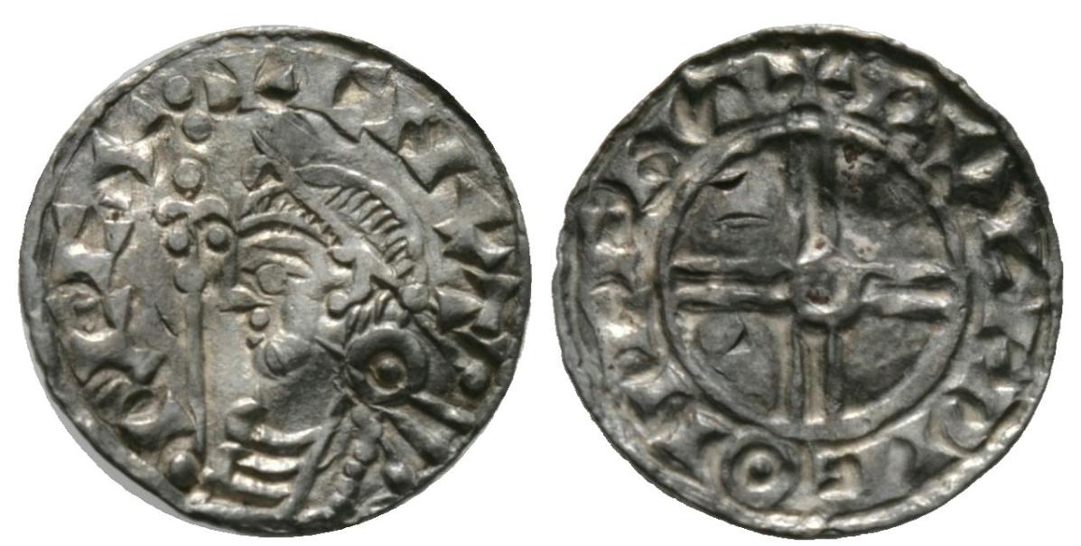 Изображение Кнуда Свейнссона Великого на монете