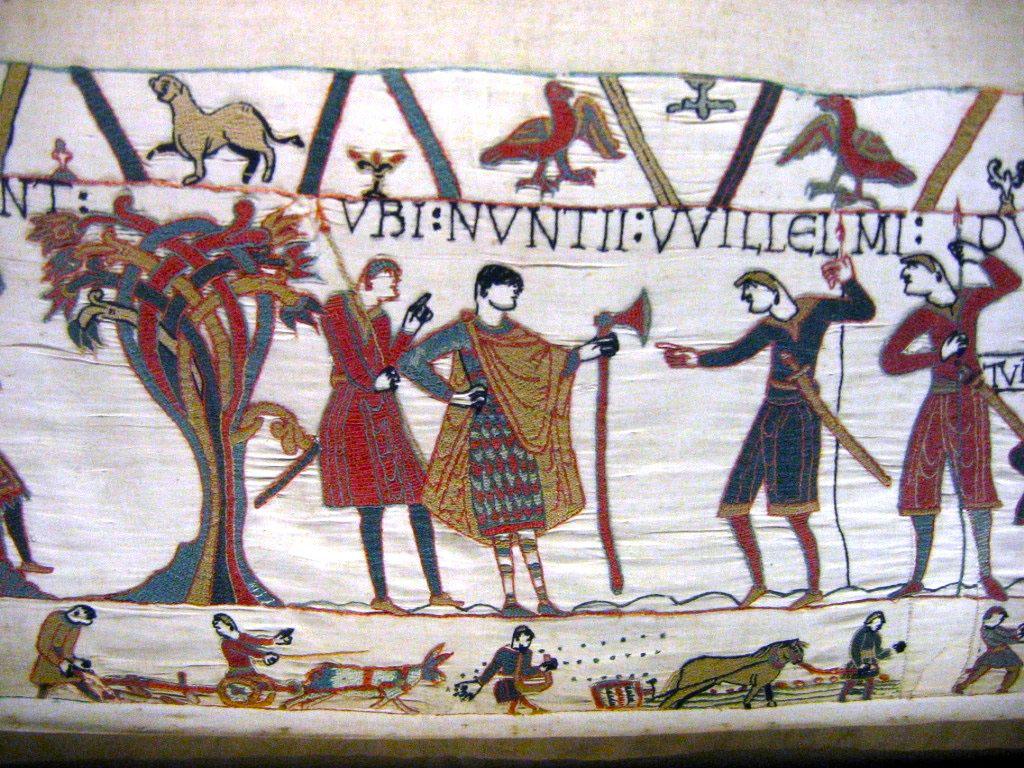 Причёски викингов на гобелене из Байё