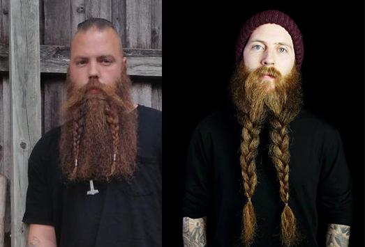 Современные бороды в древнескандинавском стиле