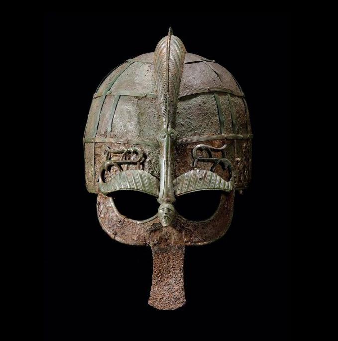 """Вендельский """"утиный"""" шлем, Государственный музей истории Швеции, Копенгаген"""