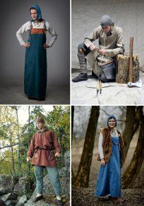 Мужские и женские скандинавские костюмы из Бирки