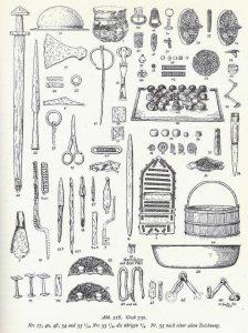 Разнообразие находок предметов с острова Бирка