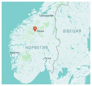 Карта находки меча викингов