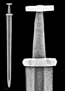 Рентгеновский снимок меча викингов